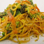 Raw Vegan Asian Red Pepper & Asparagus Spring Pasta