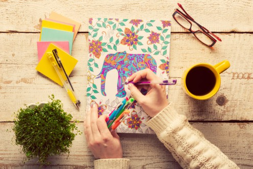 The 6 Awesome Benefits of Coloring Books for Adults