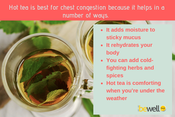 Hot tea is best for chest congestion.