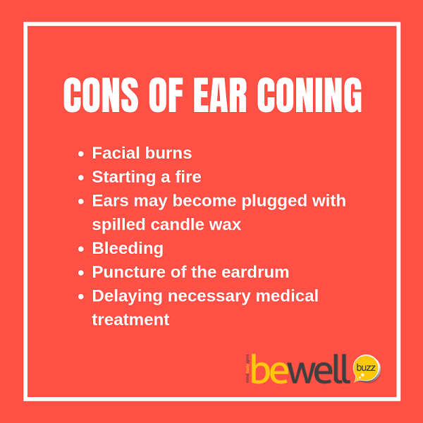 The Food and Drug Administration warns people to avoid ear coning.