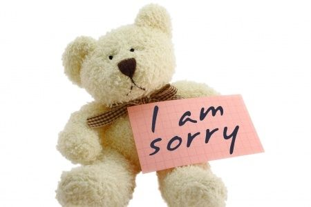 Saying I'm sorry …