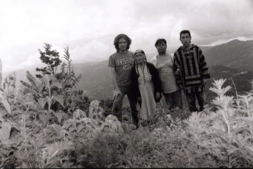Photo: (Left to right) Oliver Quintanilla, Natalia Martínez, Martha de Martínez (Daughter in law from Natalia), Fausto Martínez (Natalia's son).
