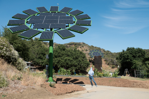 A Sun Flower erected near Malibu's MUSE School. Brandon Hickman
