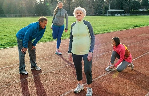PHOTOGRAPH BY GRANT HARDER KOTELKO SWITCHED TO TRACK AND FIELD AT AGE 77 AFTER SHE DECIDED TO GIVE UP SOFTBALL.