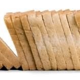 sliced white bread white background