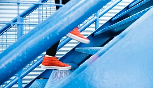 How to Stay Active in Winter: Take the stairs