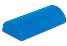 Regularly stretch and strengthen the calves and hamstrings with a half-round roller.