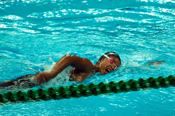The front crawl stroke is an excellent way to get in your cardio workout.