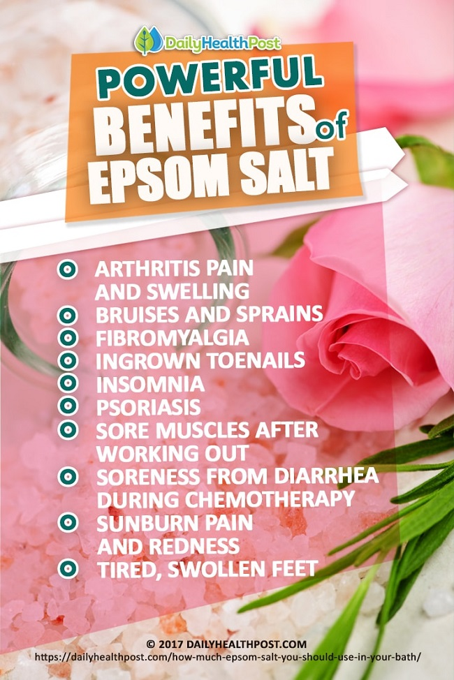 Powerful Benefits of Epsom Salt
