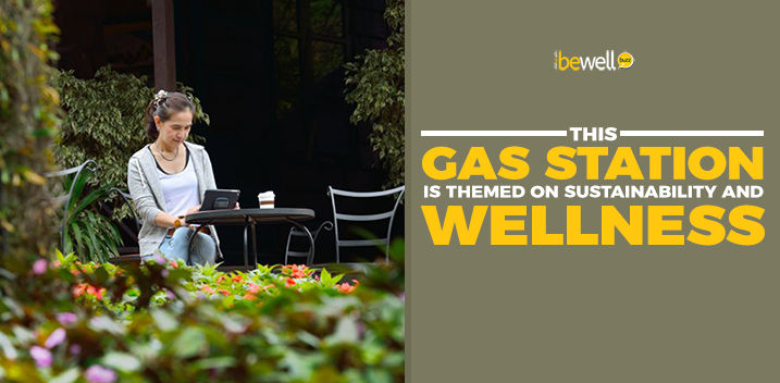 This Gas Station Is Themed on Sustainability and Wellness