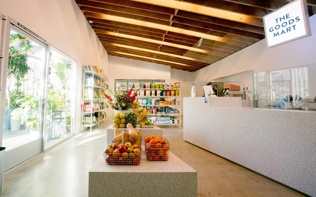 A Sustainability and Wellness Themed Gas Station Convenience Store