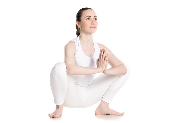 Garland pose for Rheumatoid Arthritis