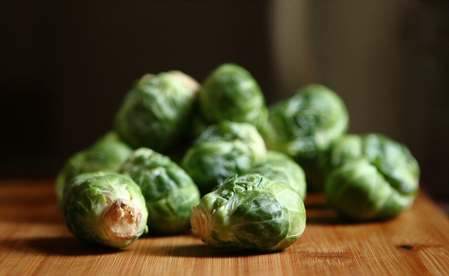 brussels sprouts contain flavones and indoles that have anti-cancer properties.