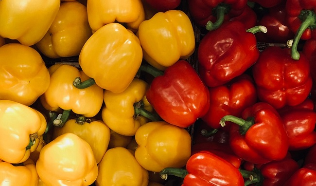 Peppers are also high in vitamin C.