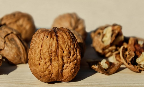 Walnuts, in particular, have lots of fatty acids.